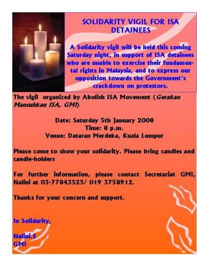 ISA Vigil